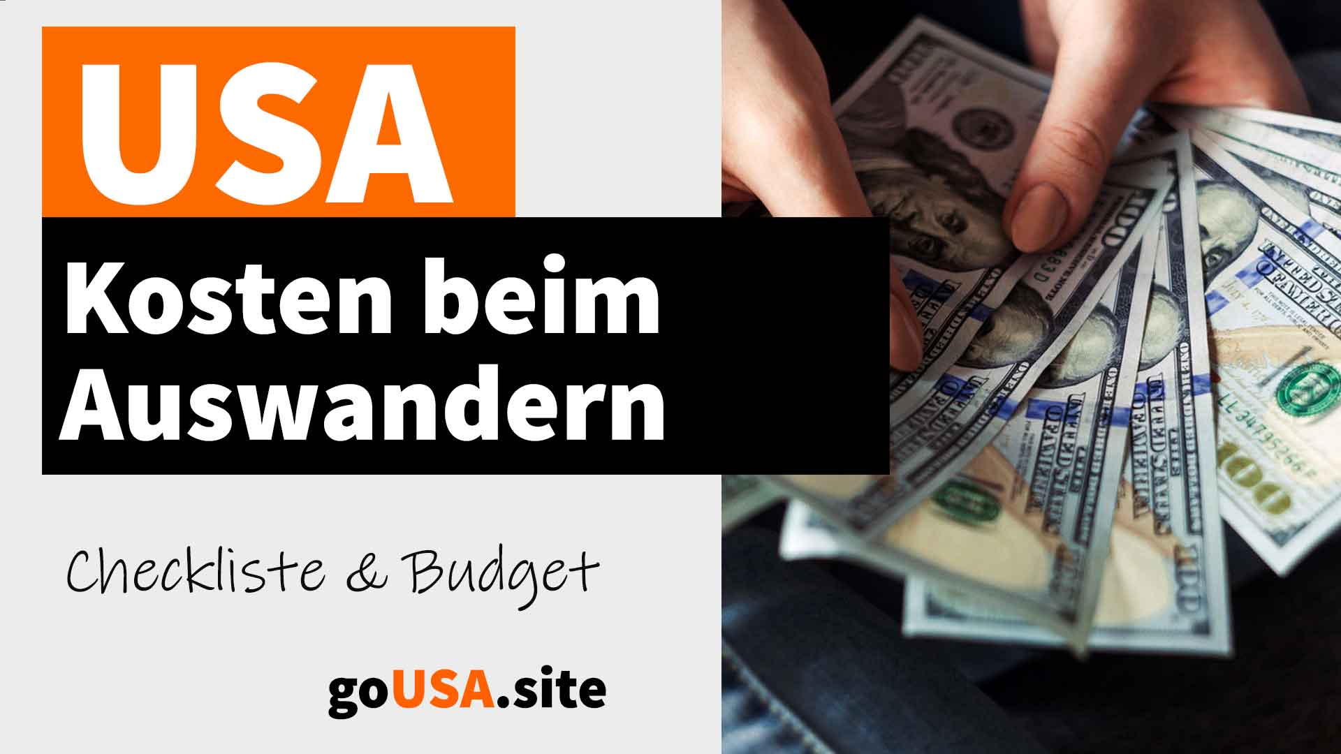 Kosten zum Auswandern in die USA - Checkliste und Budget